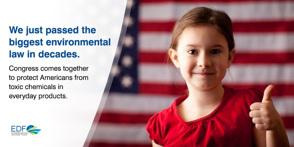 BREAKING: Congress just passed one of the biggest environmental laws in history to protect us from toxic chemicals. https://t.co/hpL9lPYwOa