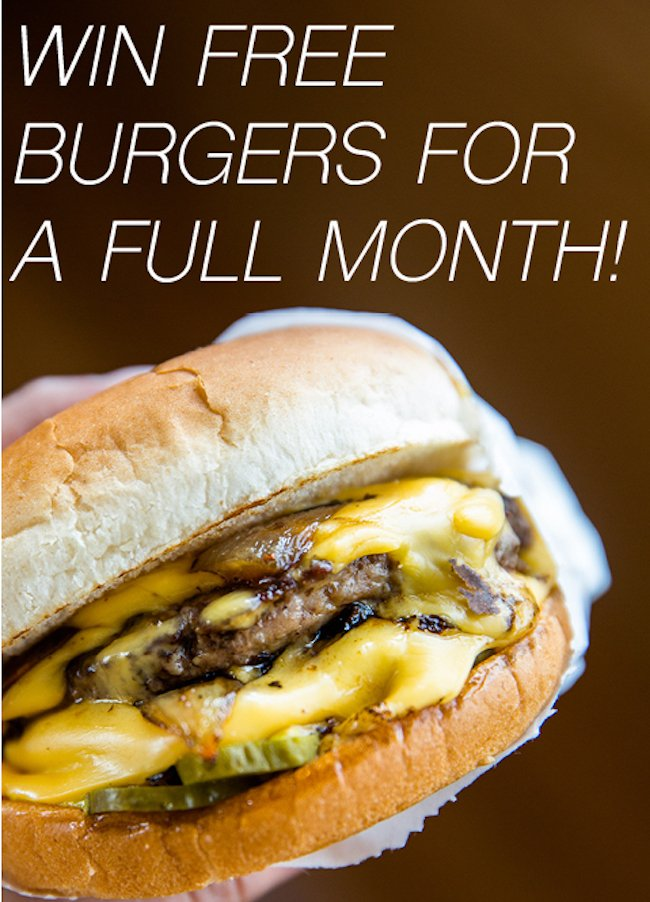 Want to win FREE #burgers for a month? Follow @MBurgerChicago on Instagram to find out how! https://t.co/oU0WdiZTu9