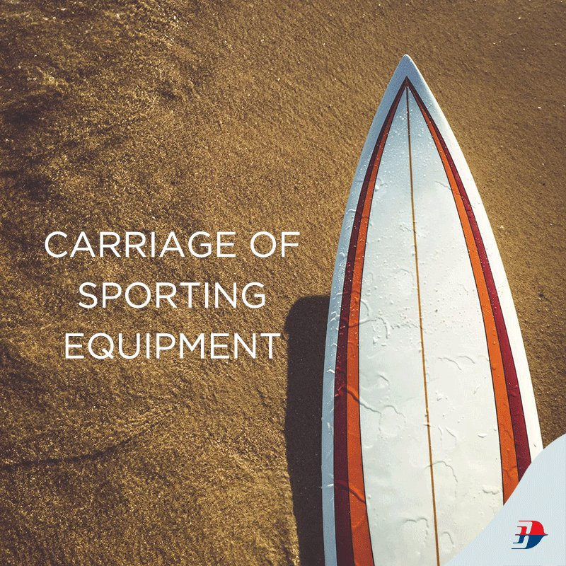 Did you know that sports equipment is carried as part of checked baggage allowance?