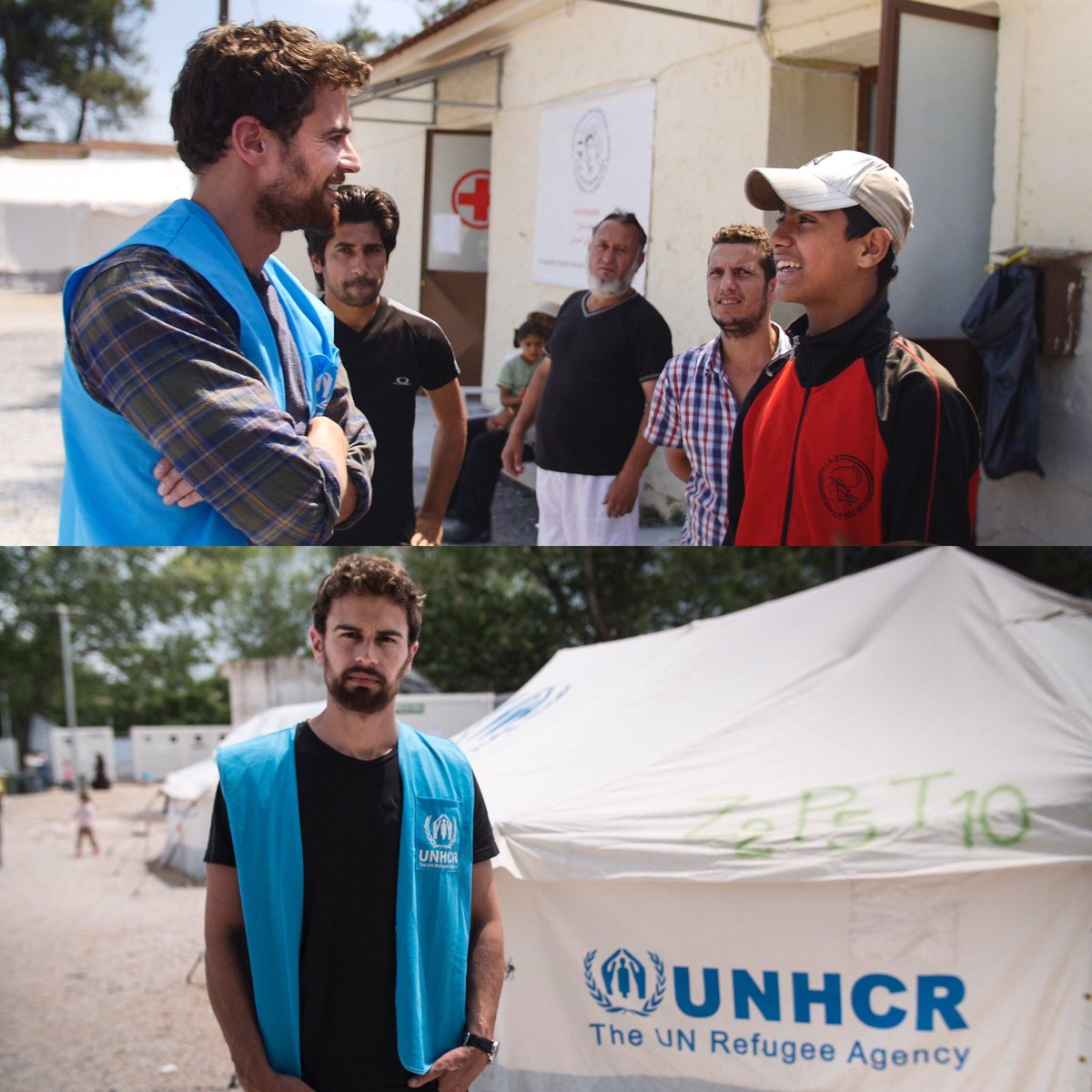 #UNHCR High Profile Supporter Theo James travelled to Greece ahead of #WorldRefugeeDay. #WithRefugees #TheoJames https://t.co/9C1I7675cP