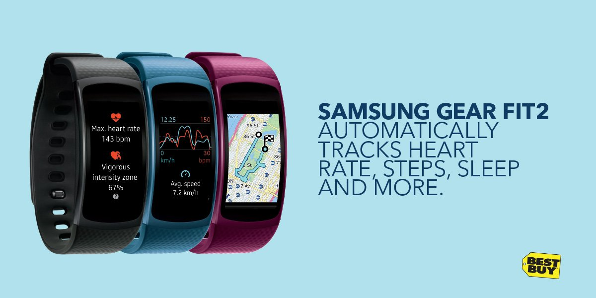 Connected at the gym! Samsung Gear Fit2 let's you answer calls, texts + more. @BestBuy #ad https://t.co/Gq97GkGM5s https://t.co/3bTlCnGao2