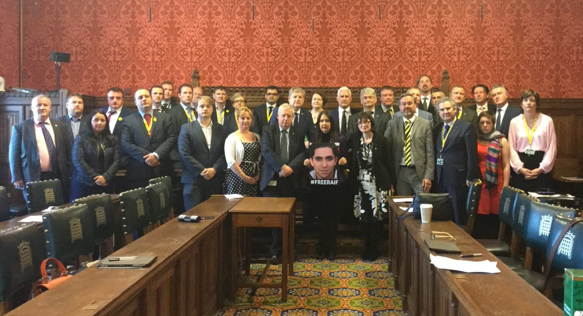 Great to see the SNP standing in solidarity with imprisoned blogger @raif_badawi. Thank you all! #FreeRaif https://t.co/kyAsCxTqWi