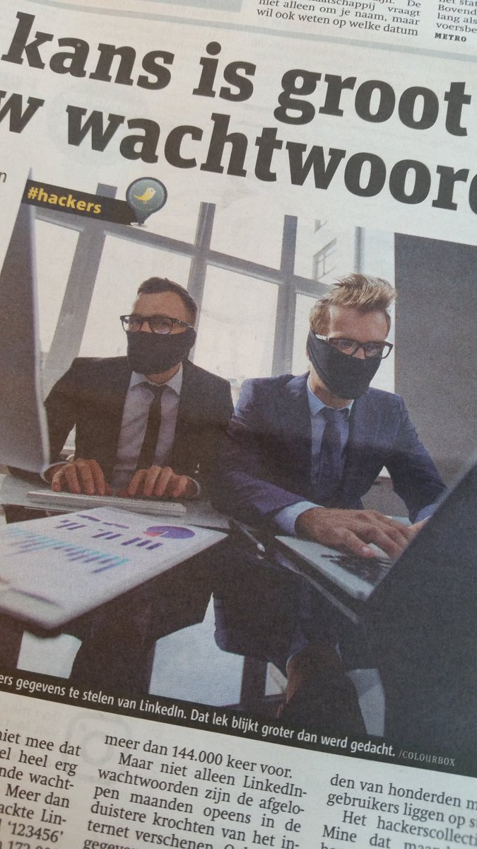 Completely unrealistic image of #hackers. We avoid suits & ties whenever possible. https://t.co/1Jru8iE1QW