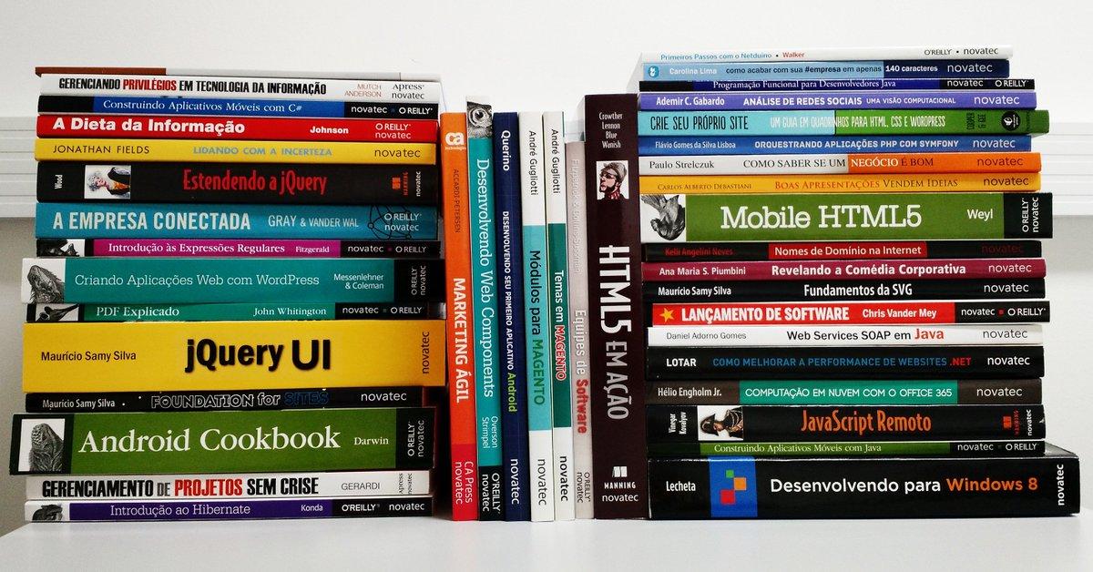 + de 40 livros da Novatec c/ 70% de desconto! Use o código JUNHO70FB nos livros selecionados https://t.co/ime9KmiPOt https://t.co/7CnPmLOgma