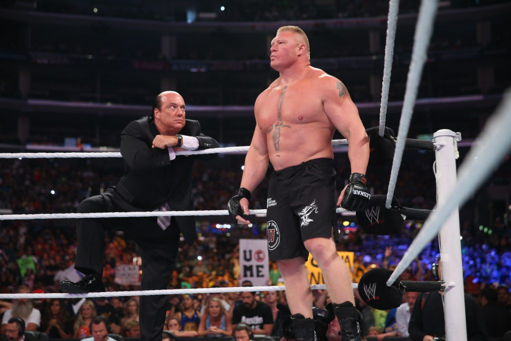 VIDEO | @BrockLesnar sprak met @HeymanHustle over zijn beslissing om terug te keren naar de… https://t.co/ShpZNZTPqH https://t.co/MDCOneHDRS