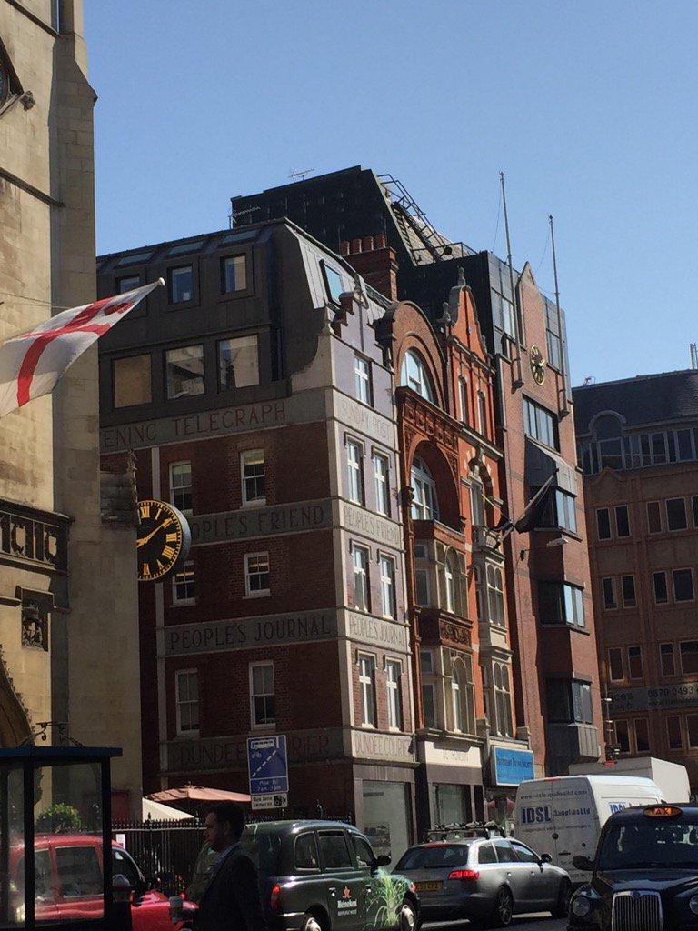 The last remaining newspaper group on the legendary Fleet Street @DC_Thomson @Evening_Tele #proud https://t.co/QY2SAg5K03