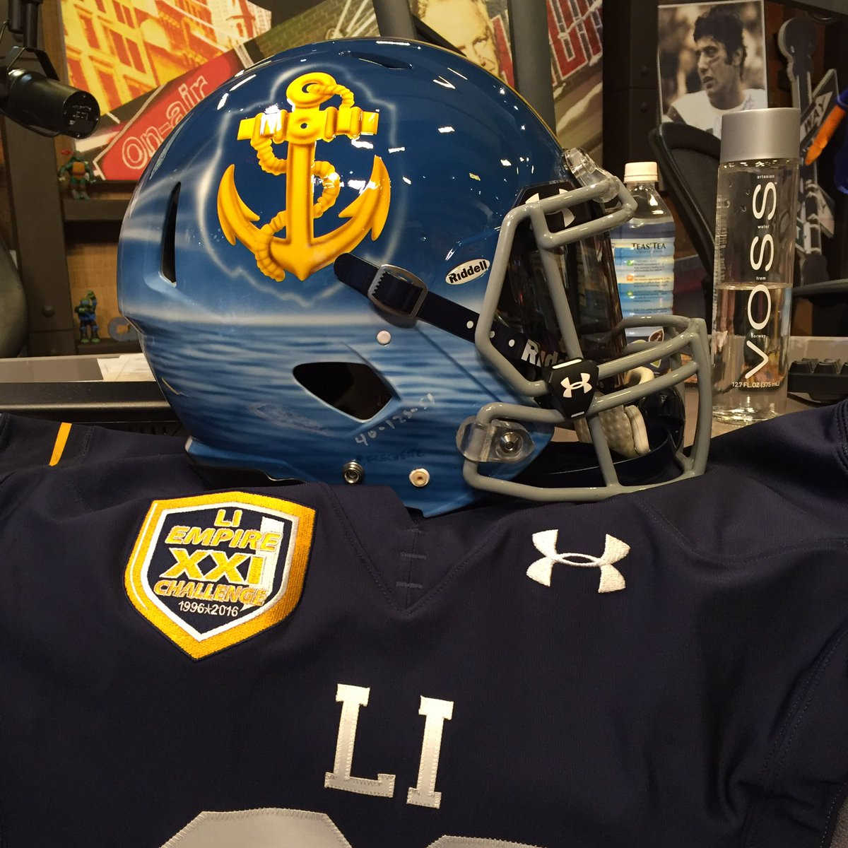 Here are the helmets for @EmpireChallenge High School All Star Game. Long Island v NYC June 21 at Hofstra https://t.co/2yoWO37bxs