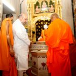 RT @AmitShah: Took blessings of respected saints at @BAPS Swaminarayan Temple, Sarangpur (Gujarat). https://t.co/WC2OWw0lpt
