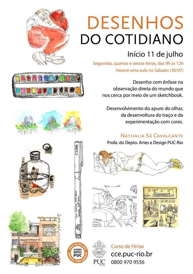 Curso muito legal na PUC-Rio pra galera que quer uma imersão em desenhos do cotidiano! https://t.co/gB4ZmJHBGq