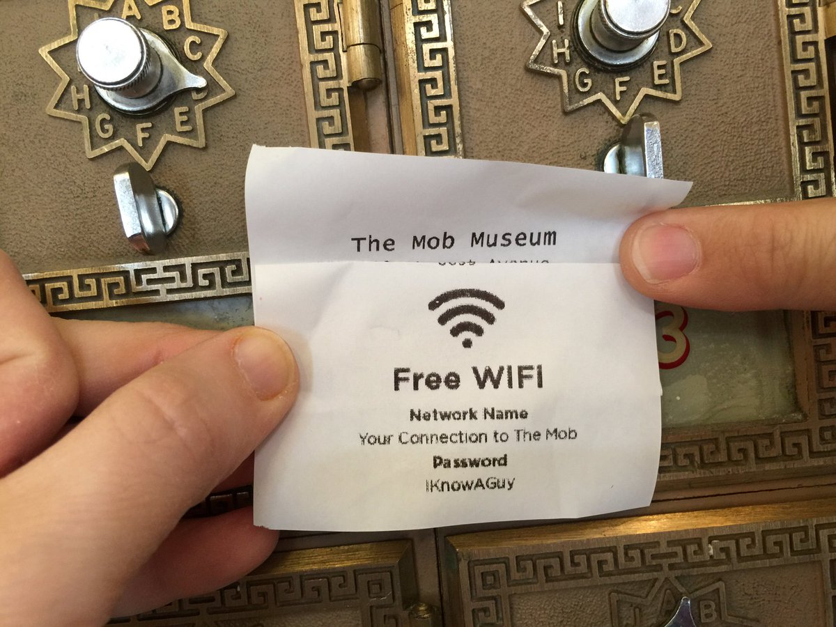 Best wifi password ever! #MobMuseum https://t.co/LWSZylFf6z