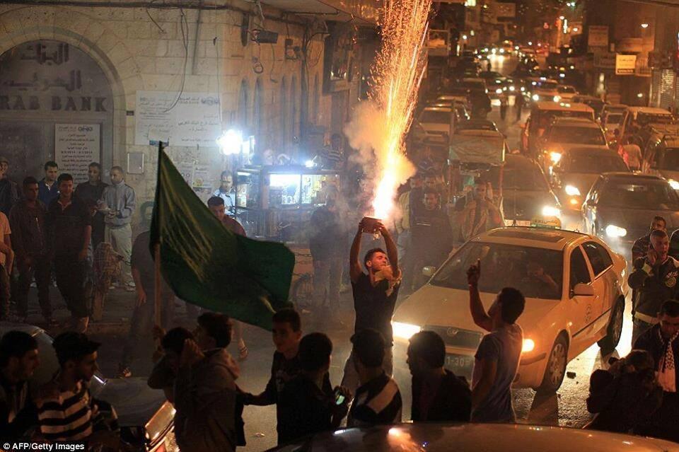 Palestininians celebrating #TelAviv terror attack https://t.co/whzDzJnqXN https://t.co/LIZJ6eT5cG