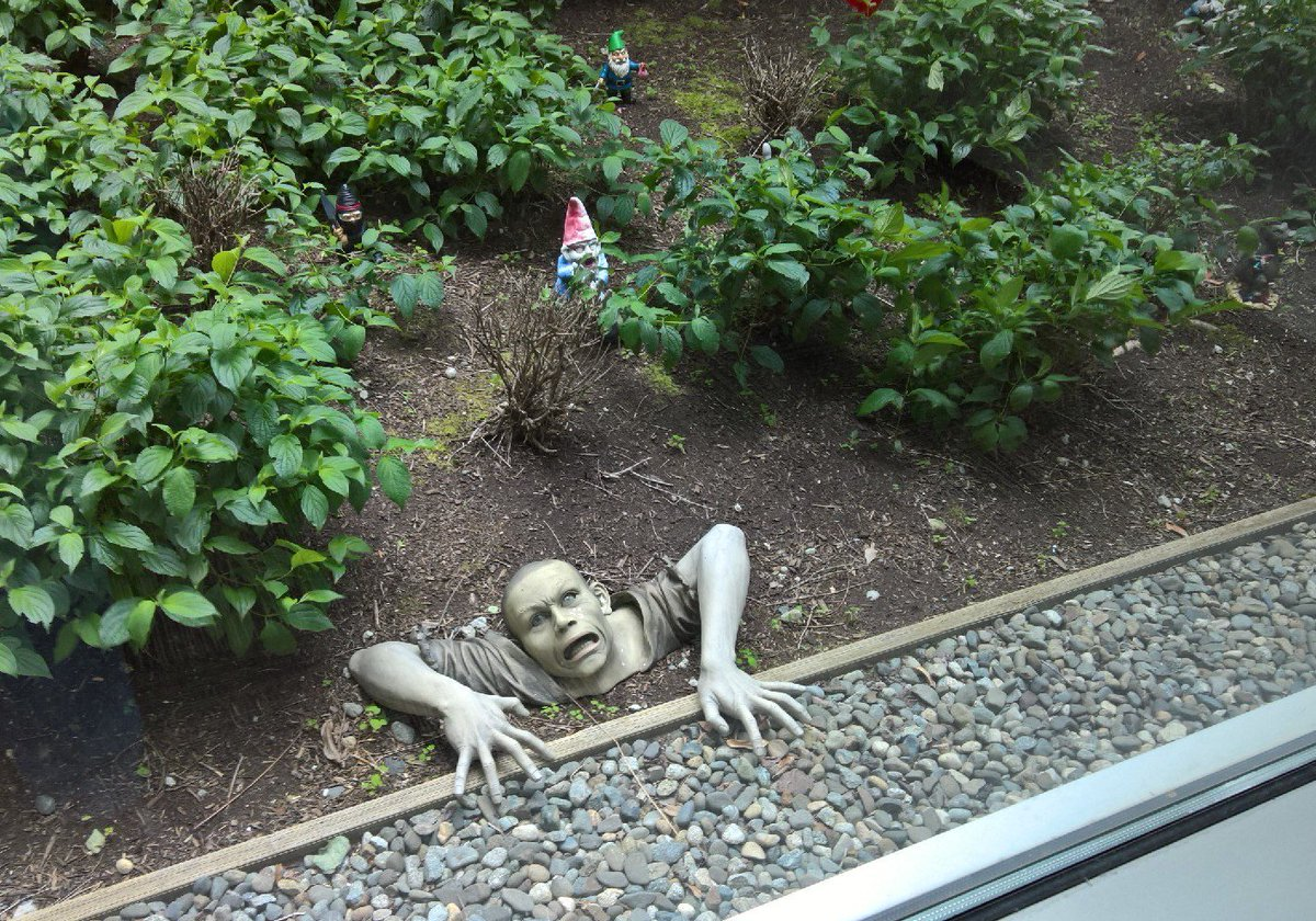 This has to be one of the scariest things Ive run into at a Microsoft campus building lol.. Its behind a window view https://t.co/AZBnwBJkEQ