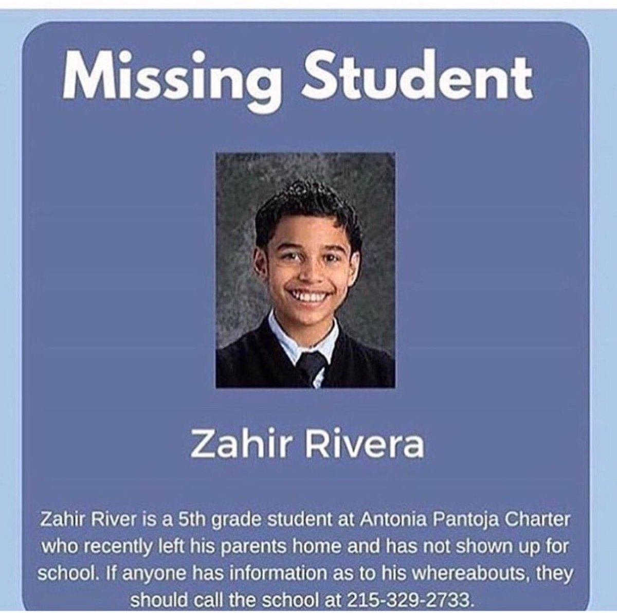 Help find my little cousin Zahir