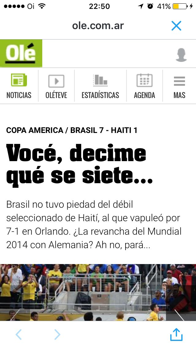 Via @renato_senise: manchete do @DiarioOle sobre o 7x1 de agora. https://t.co/YqTvXPQiBL