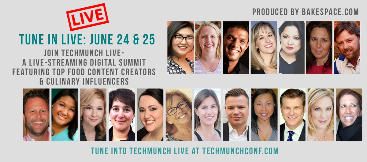 Want to create better food content? Join us at #TECHmunch LIVE! https://t.co/5ABU9daKEY https://t.co/WAoAfzk6k8