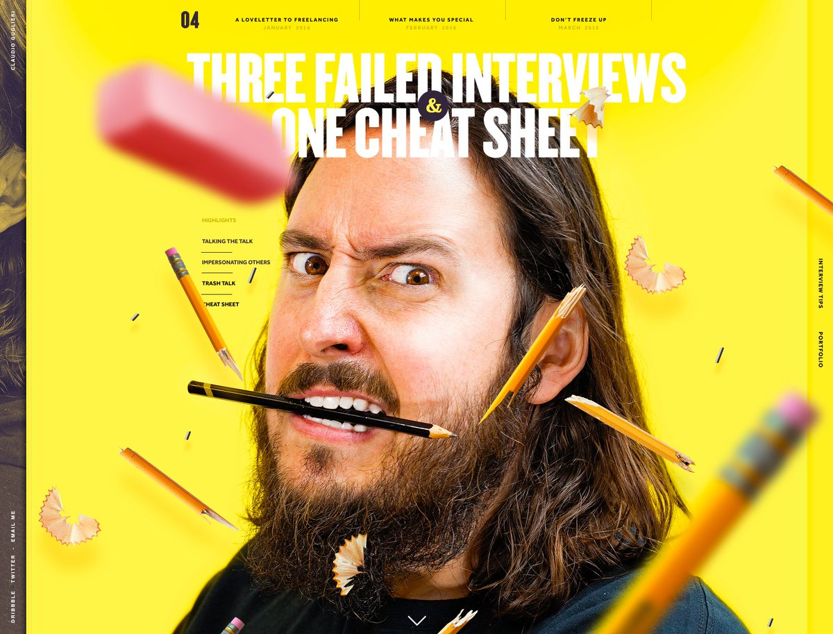 New Cover - Failed Interviews and One cheat sheet - https://t.co/9yNtqri7Ie… ,what's your most memorable interview? https://t.co/BZqngpfzYI
