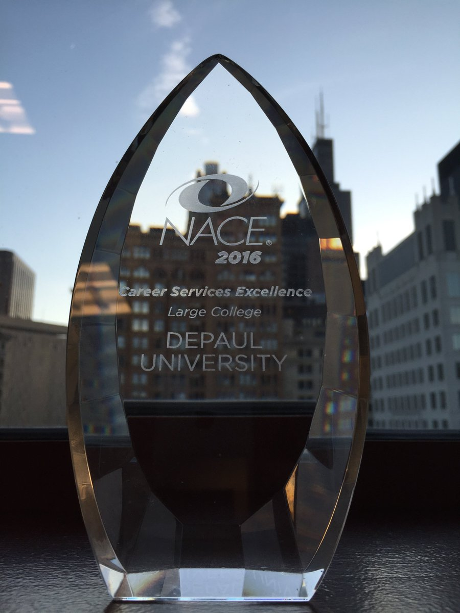 DePaul's EDGE program won the #NACE16 Career Services Excellence Award! Thank you @NACEOrg for this honor. https://t.co/dv60bknird