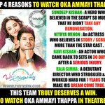 RT @urspradeepk: @sundeepkishan these r some reasons to watch @OATOfficial #OkkaAmmayiThappa https://t.co/VBIERbM1jy