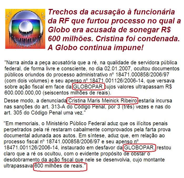 A funcionária q quer furtou processo da Globo na Receita foi solta por quem? Gilmar Mendes! https://t.co/uDnXkw3KbU https://t.co/HfaYNk74c9