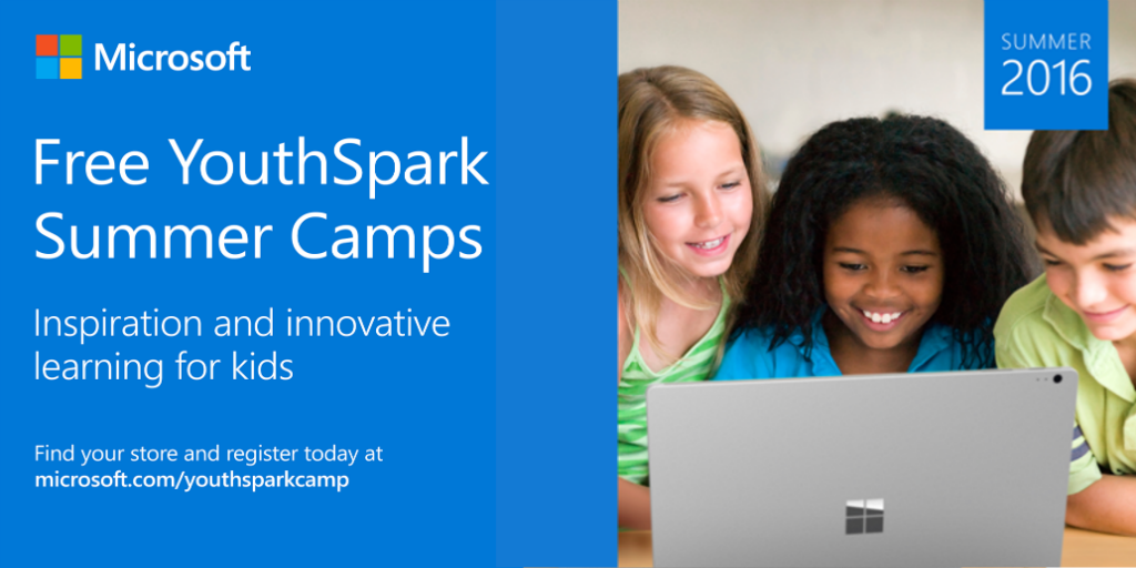 Free YouthSpark Summer Camps: happening now, register today! https://t.co/FHiEpIGfMV https://t.co/XBehiPxawu