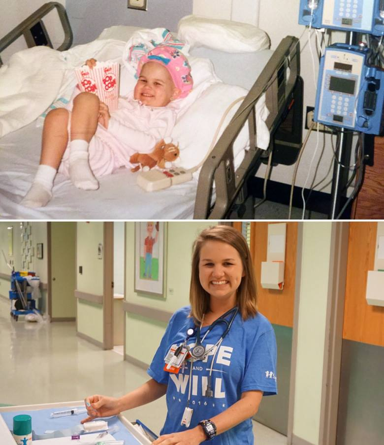 Dreams do come true! Amelia is now a nurse at Children's where she beat cancer - twice! https://t.co/4HWjFqTXL9