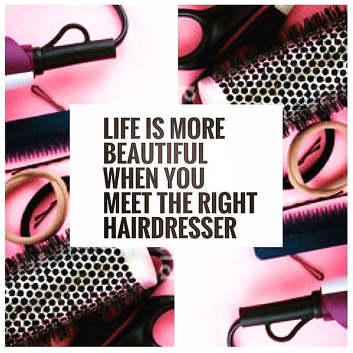 RETWEET if you agree! Life is more beautiful when you meet the right hairdresser. Happy Thursday!