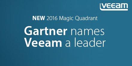 #Gartner names #Veeam a LEADER in NEW 2016 Magic Quadrant for Data Center Backup & Recovery https://t.co/XgBioMo2pK https://t.co/apI7cCXd25