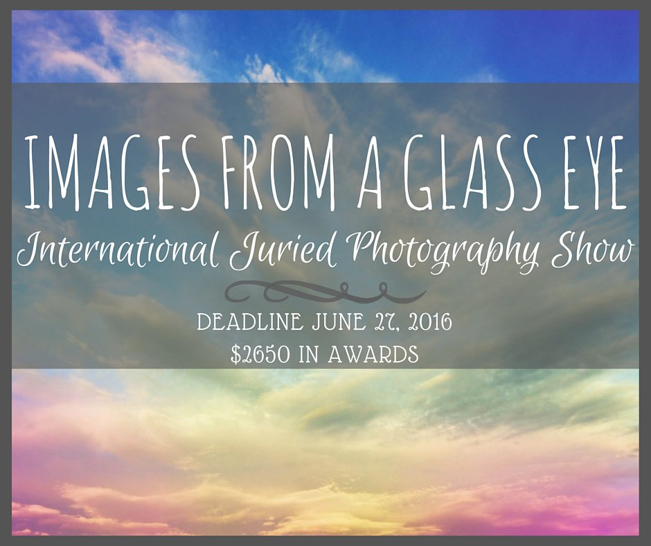 2016 Images from a Glass Eye International Juried Photography Show. DEADLINE JUNE 27, 2016 https://t.co/zF4gP7a4JO https://t.co/EqN4H6njJ8