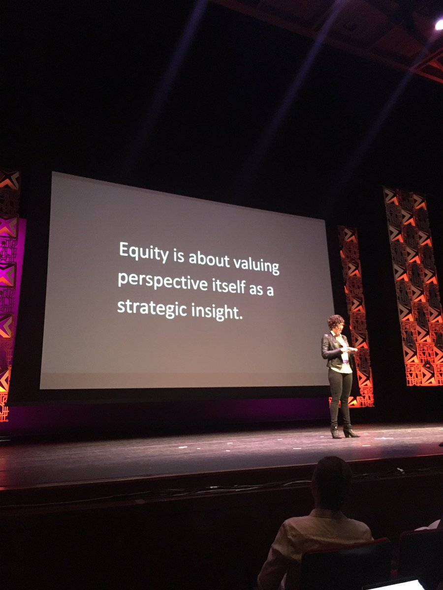 'Equity is about valuing perspective itself as a strategic insight' #pdf16 https://t.co/HCUtKqUdLf