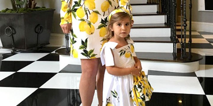 Kris Jenner and granddaughter Penelope show off matching citrus dresses via @PEOPLEbabies