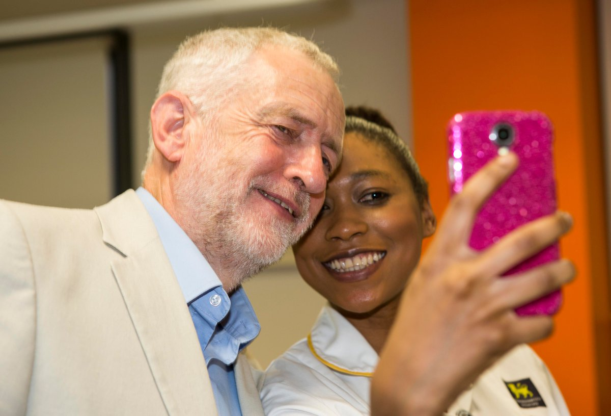 Labour leader @jeremycorbyn was on campus today talking to our nursing students about protecting bursaries https://t.co/3EYMOCCcnY