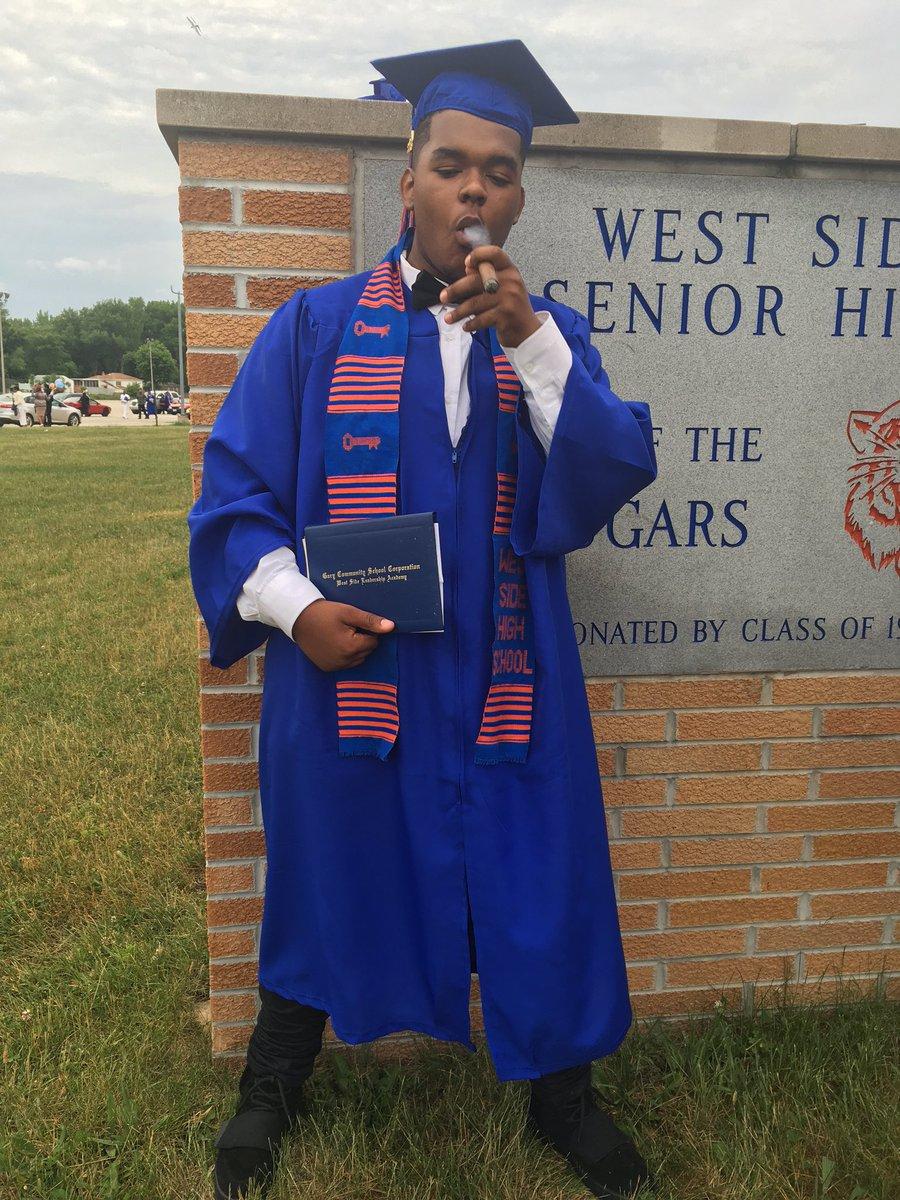 Flexxxx @ilovecrob, so proud of my Yung bull graduating HS, Morehouse next.