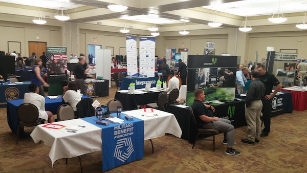 MBA is proud to be serving our #military members and #veterans at @hiringourheroes today in #Chesapeake, VA! https://t.co/2XBF0JxRwx