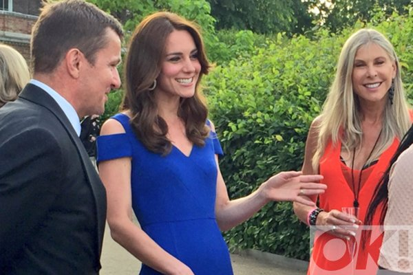 Kate Middleton stuns in royal blue at Kensington Palace: