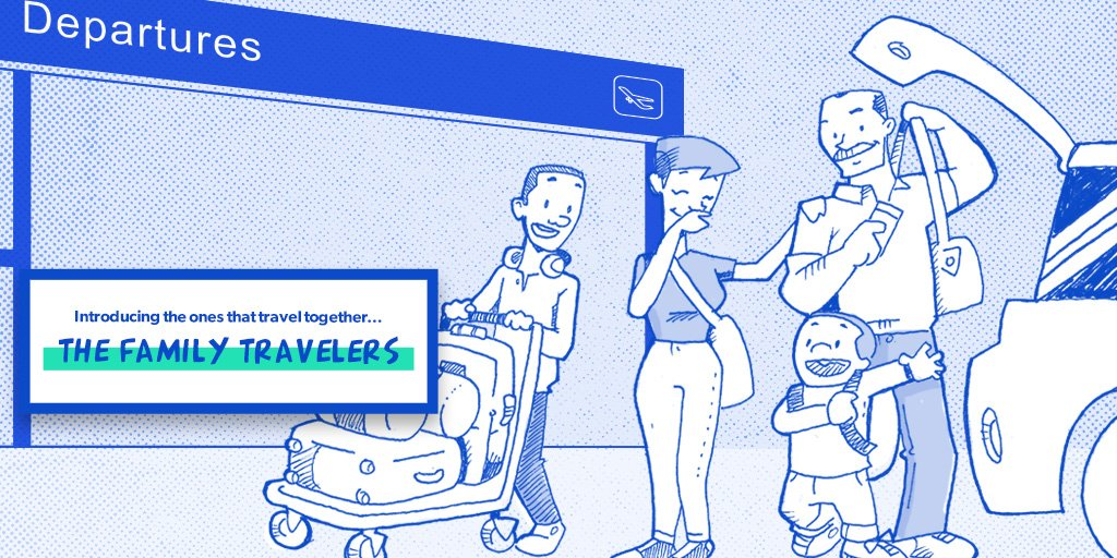 Families who fly together are very happy. Learn more about family travelers at