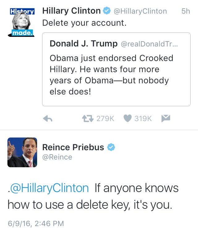 .@HillaryClinton is gonna need some ice for that burn! #yrnf H/t @Reince https://t.co/PyhzcB1mDf