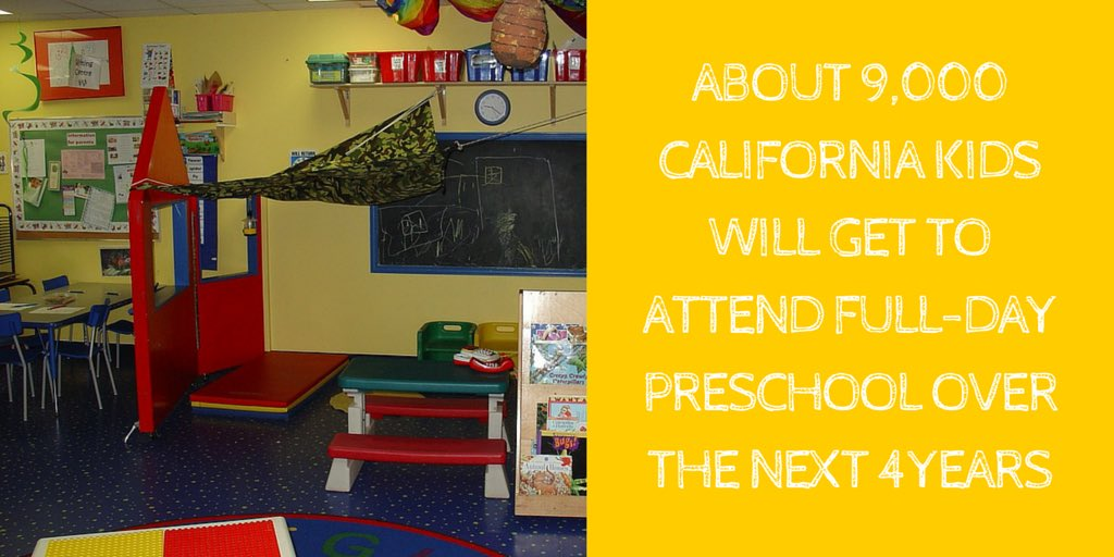Kids are our future. That's why the #CABudget adds about 9,000 new full-day preschool slots over the next 4 years. https://t.co/Tmc5GnrMxV