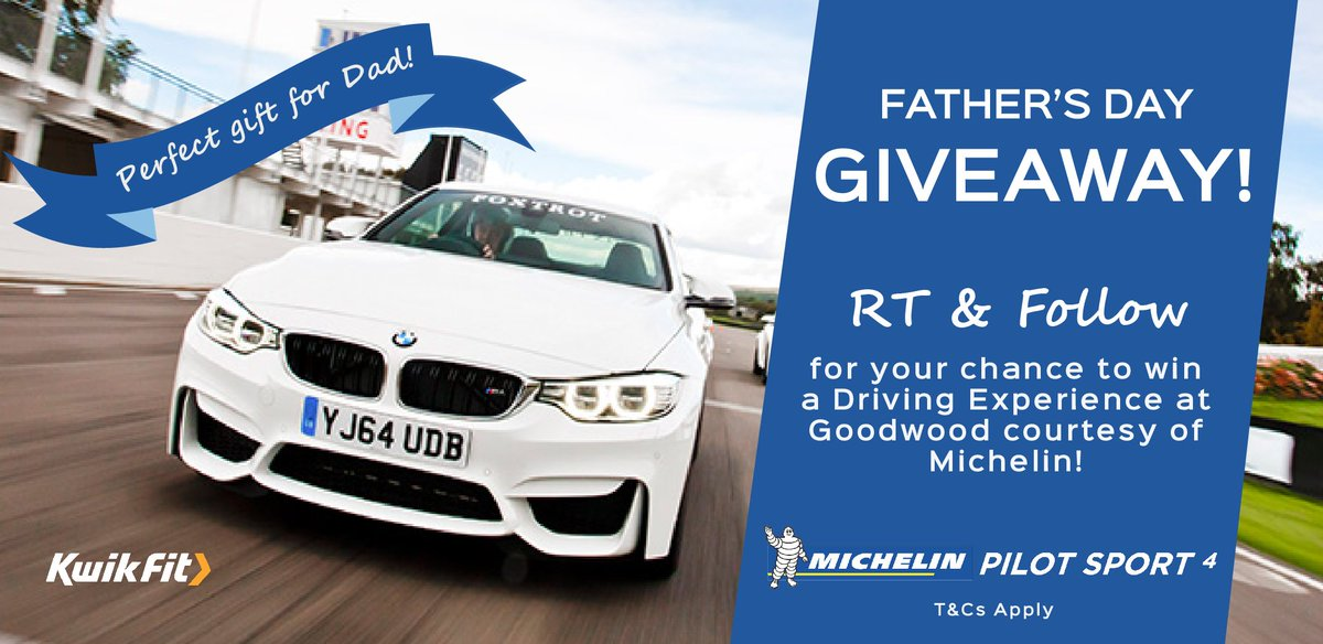 Want to #WIN our #FathersDay #giveaway? RT & follow to enter! @MichelinTyres T&Cs: https://t.co/FGhmEKUlDe https://t.co/TqwuWueQyR