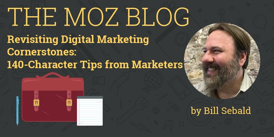 Revisiting Digital Marketing Cornerstones: 140-Character Tips from Marketers https://t.co/lFPUfvuYcc By @billsebald https://t.co/LhMtbzCDuu