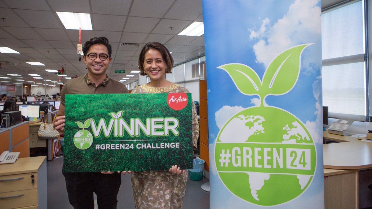Congrats to @syafiqduckie the winner of GREEN24 Challenge! Find out more @