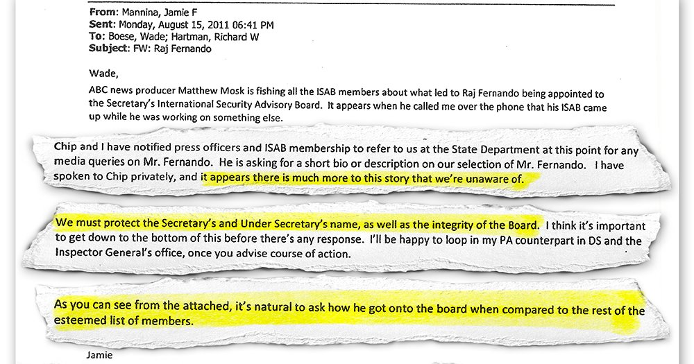 """Email: """"We must protect the Secretary's and Under Secretary's name…"""" after @ABC Qs- https://t.co/uymciAXcUA #Clinton https://t.co/f5Do8WSZpL"""