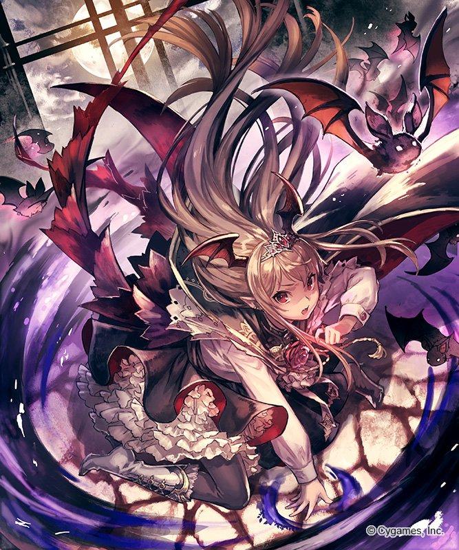 神撃のバハムートにて「アガットクイーン・ヴァンピィ」を描きました。レジェフェス限定カードとなっております。レジェフェスの