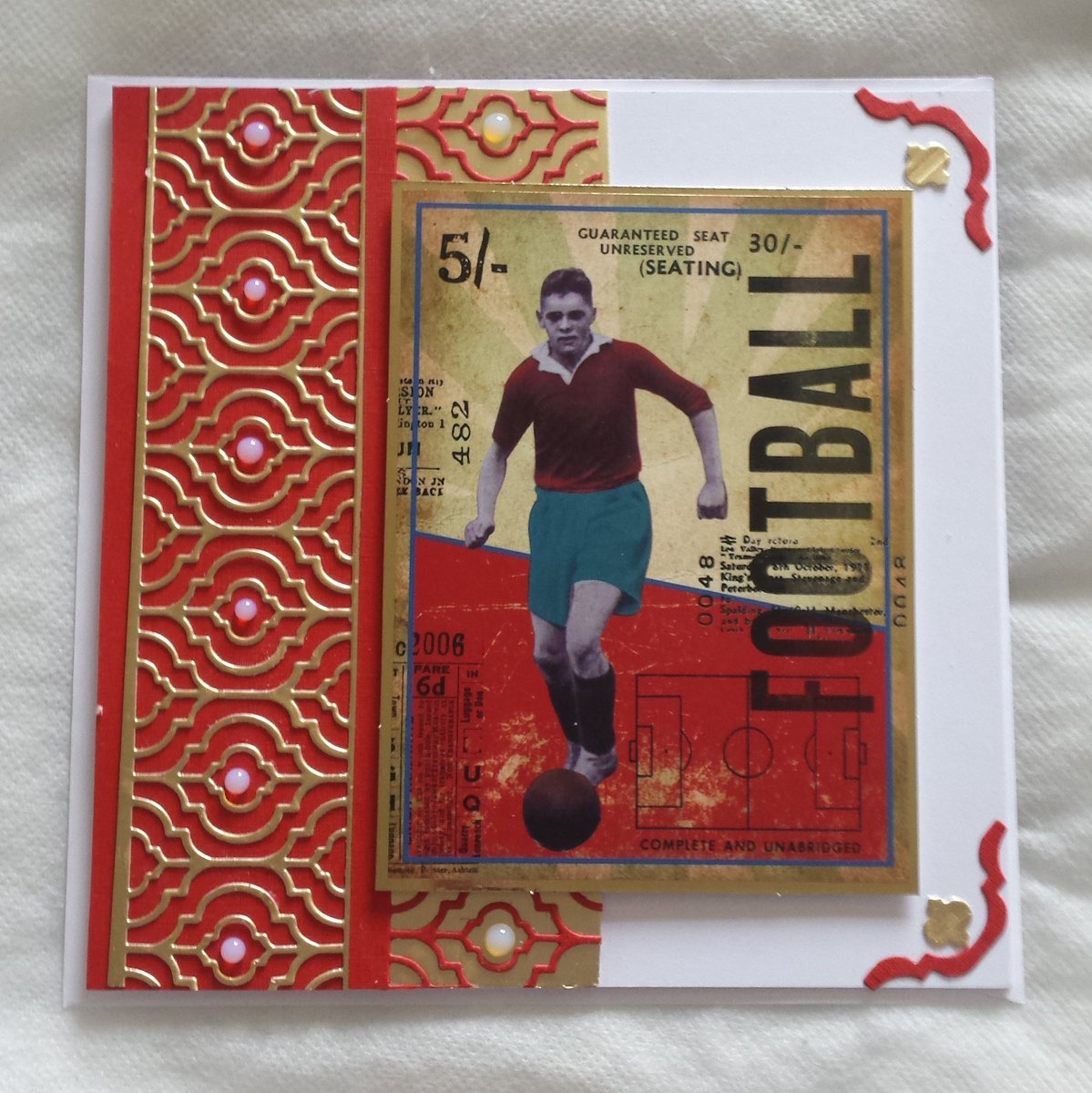 Just finished my latest #craft blog - football card inspired by #EURO2016 read how I made it https://t.co/oEB5N59YFw https://t.co/zOtiu8B3WA