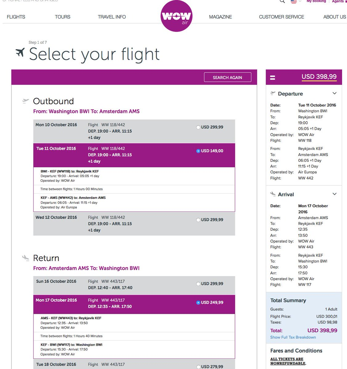 RT @airfarewatchdog: BWI-Amsterdam $399 RT on @wow_air airfare deal