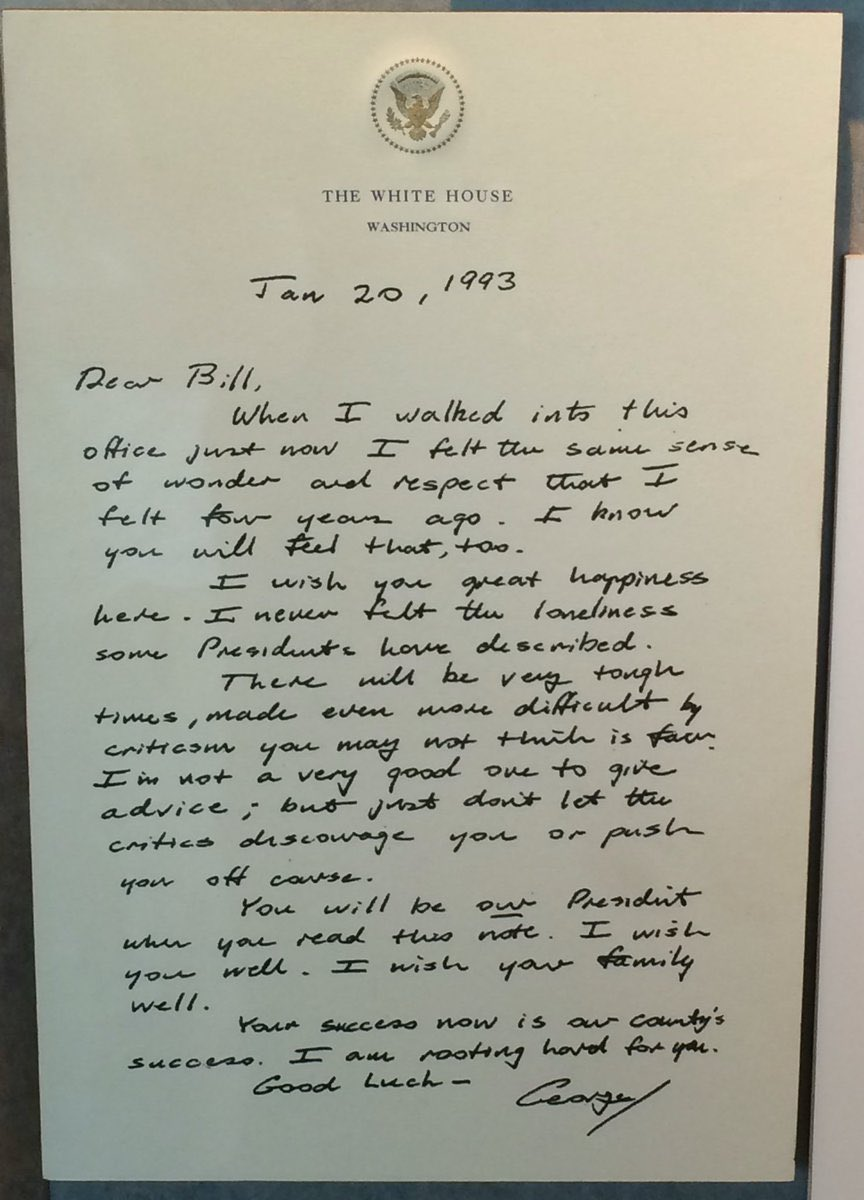 This was written 23 years ago from one President to another.  I love it. https://t.co/4lSE0nuj1U