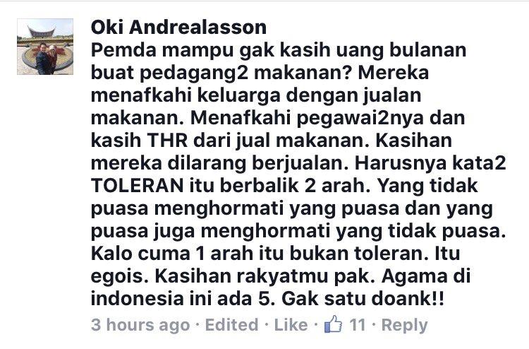 sy kutip 1 komen ini dr FB. Bupati Banten,tolong dibaca.Ini suara kami rakyat yg berpuasa. https://t.co/cJShgqiIMV