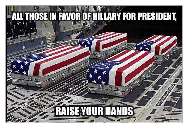 Those that vote 4 @HillaryClinton have zero respect 4 our Vets or US flag. @realDonaldTrump @seanhannity https://t.co/vQph652fSV