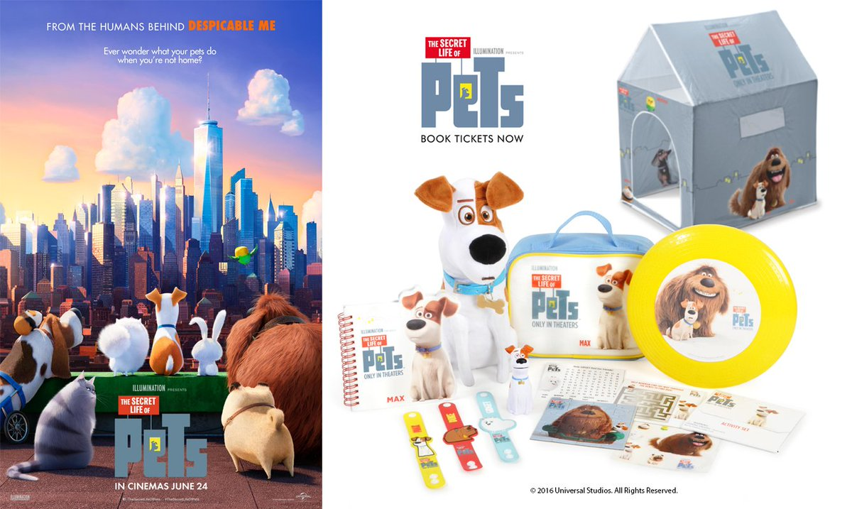 Secret Life of Pets in Cinemas 24th Jun - win 2 celebrate RT & Follow #TheSecretLifeOfPets https://t.co/z1O3DlP4w9 https://t.co/vrq5tv1yuE