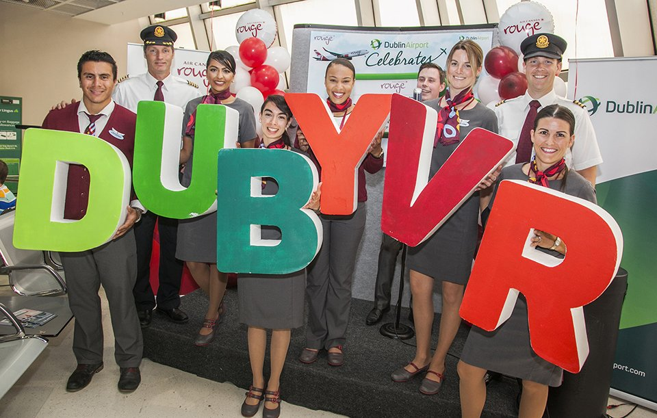 @DublinAirport welcomes new @AirCanadarouge service to @yvrairport.