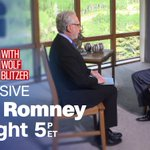 RT @CNNSitRoom: Who will @MittRomney vote for in November? He joins @WolfBlitzer for an exclusive interview airing at 5pET on CNN. https://…